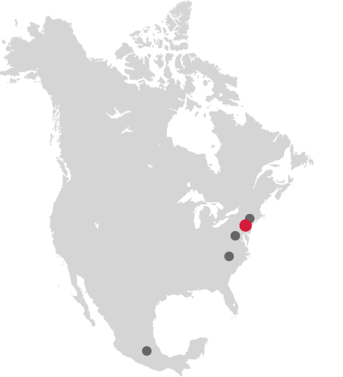 North America locations